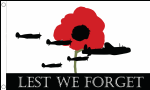 Lest We Forget RAF Large Flag - 5' x 3'